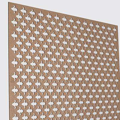 72 In X 24 In X 1 8 In Unfinished Fleur De Lis Decorative Perforated Paintable Mdf Screening Panel Insert Glass Door Cabinet Doors Glass