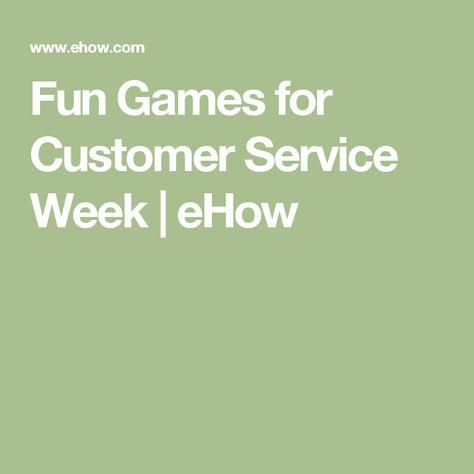 Fun Games for Customer Service Week | eHow