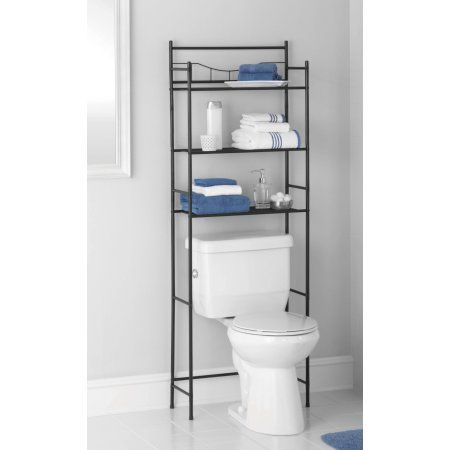 Mainstays 3 Shelf Bathroom Over The Toilet Space Saver With Liner Oil Rubbed Bronze Walmart Com In 2020 Bathroom Space Saver Bathroom Space Space Savers
