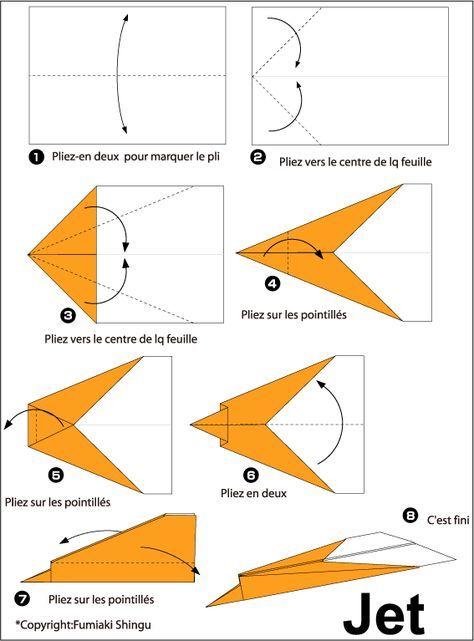 Avion En Papier Avion En Papier Origami Simple Et