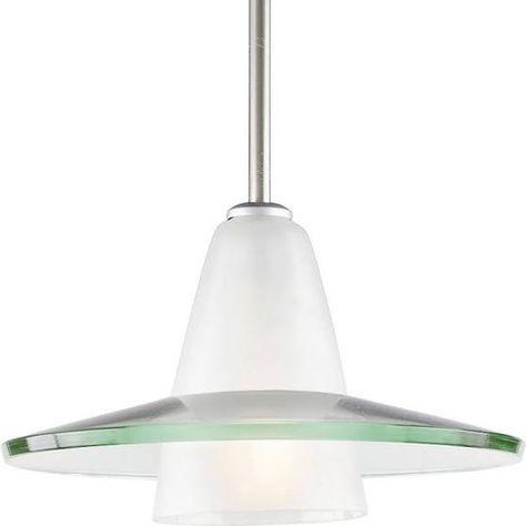 Progress Lighting-P5011-09-One Light Pendant Brushed Nickel Finish