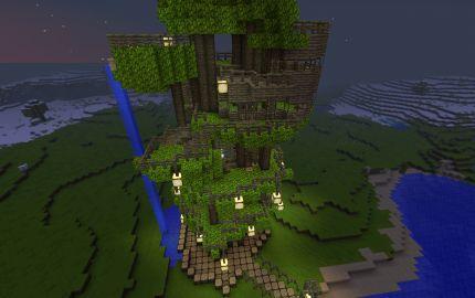 Minecraft Jungle Treehouse Maison Minecraft Maison Dans