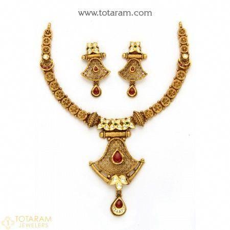 Jewellery Set Price In Pakistan Antique Necklace Gold Jewellery