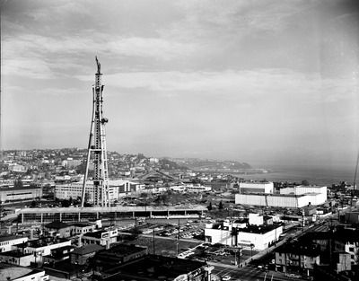 Space Needle under construction, 1961.