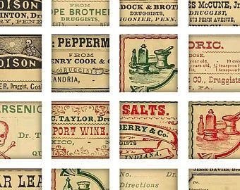 Digital Download Antique Victorian 1800 S Mini Vintage Etsy Collage Sheet Apothecary Labels Labels