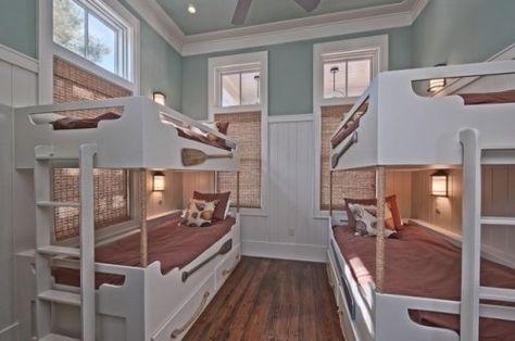 bunk room, nautical, lights