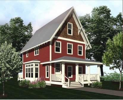 House Plan 5738 00009 Narrow Lot Plan 1 343 Square Feet 2 Bedrooms 2 5 Bathrooms In 2020 Narrow Lot House Plans Narrow Lot House Cottage Plan
