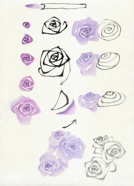 Drawing Ideas Flowers Step By Step Watercolor Tutorials 62 Ideas