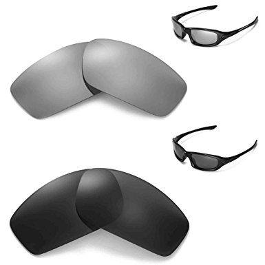4b25d165bc New Walleva Polarized Black + Titanium Lenses For Oakley Flak Jacket XLJ  Review