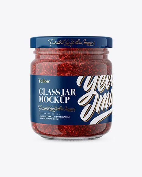 Download Glass Jar With Raspberry Jam Mockup Front View In Jar Mockups On Yellow Images Object Mockups Mockup Free Psd Psd Mockup Template Mockup Free Download PSD Mockup Templates