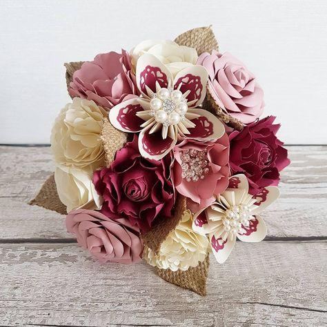 vintage #paperflowers #paperbouquet...