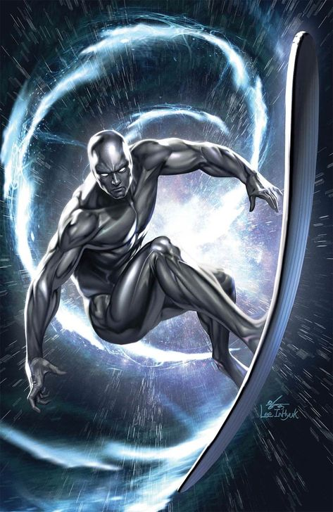 Marvel Tales Silver Surfer Cover B Incentive Inhyuk Lee Virgin Cover Dc Comics Superheroes, Marvel Comics Art, Marvel Comic Books, Marvel Characters, Marvel Heroes, Marvel Avengers, Silver Surfer Wallpaper, Marvel Cinematic Universe Timeline, Silver Surfer Comic