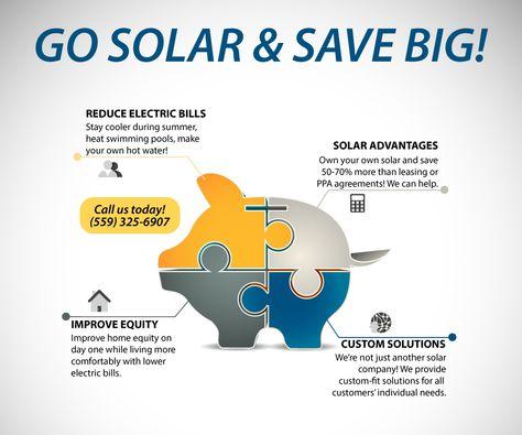 Go Solar Save Electricity Clovis Fresno Custom Solar Systems Solar Energy Diy Solar Solar Power Energy