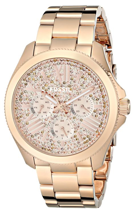 Fossil Womens Am4604 Cecile Multifunction Stainless Steel Watch