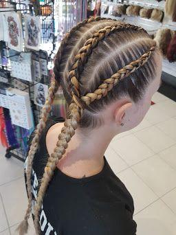 4 Into 2 Dutch Braids Dutch Braid Hairstyles Hair Styles Braided Hairstyles