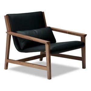 Lounge Sessel Leder Holz Sessel Sessel Design Stuhl Design