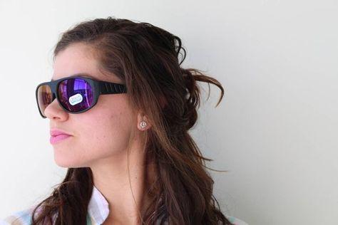 d8c132dde9 1980s MIRROR WAYFARER Sunglasses.retro. colorful shades. urban. hipster.  wayfarer. purple rainbow sh