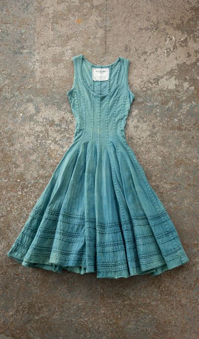 """I'm not sure this would work on my top half. I love that it has variation in color and texture without being a """"print."""" I like the greens/blues, the seams, the ruffling (pleats?). I want more things like this that are interesting and not a solid or a print."""