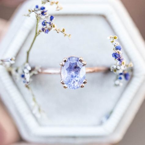 Pear Sapphire Engagement Ring Set Two Tone Gold Floral Rings Blue Sapphire Ring with Matching Diamond Band - Fine Jewelry Ideas Cute Rings, Pretty Rings, Beautiful Rings, Cute Jewelry, Jewelry Rings, Jewelry Accessories, Jewlery, Diamond Jewelry, Rose Gold Jewelry