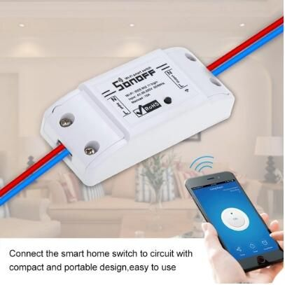 Sonoff Basic Wifi Switch Works With Amazon Alexa And Google Home Sales Online White