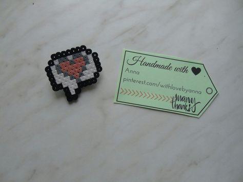 magnete Brooch/Magnet/Keyrings heart...