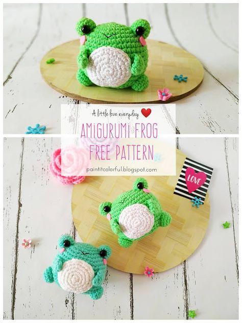 Amigurumi frog pattern