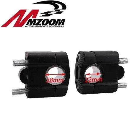 """1 1//8/"""" 28 mm CNC Guidon Fat Bar Riser Mount Clamp Adaptateur pour Pit Dirt"""