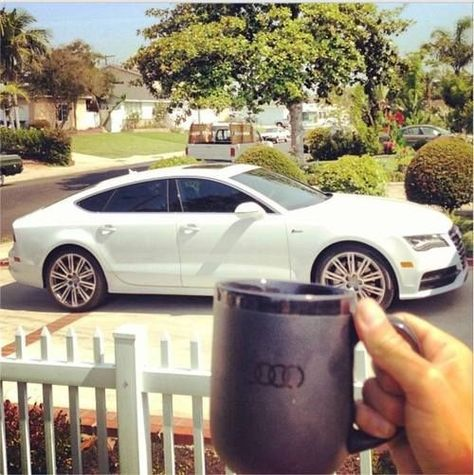 Audi A7...with matching Audi coffee mug. Wouldn't mind waking up like this every morning :)