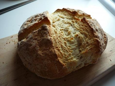 Traditional Irish Soda Bread from Food.com: This traditional Irish soda bread is served warm with lots of butter to accompany your cornbeef and cabbage boiled dinner. Happy St. Patrick's Day!
