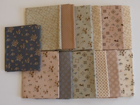 Quilting FABRIC Set of 13 fat Quarters from Windham Fabrics, French Armoire Collection by Lynnette Anderson.
