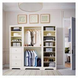 Whitmor Deluxe Adjustable Garment Rack White Closet