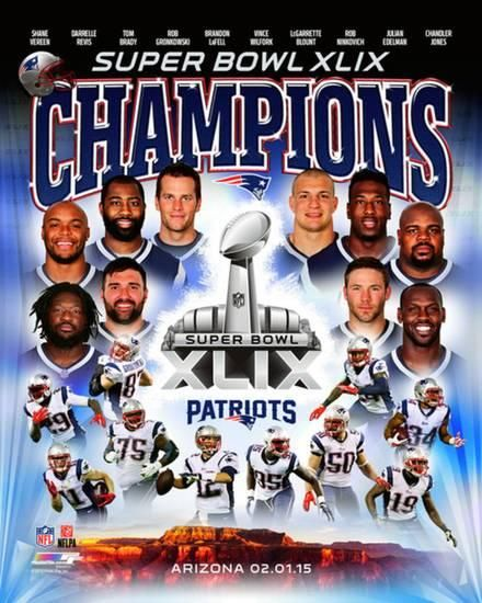 Super Bowl Xlix Champions New Enlgand Patriots Photo Allposters Com Patriots Team Patriots New England Patriots