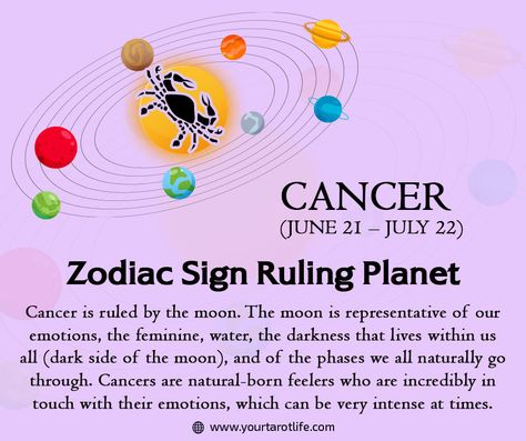 As ruler of Cancer, it's the Moon that makes Cancers feel alive by bequeathing them with ever-changing and powerful emotions. #tarot #tarotcards #tarotreading #tarotreader #tarotreadersofinstagram #witch #love #astrology #zodiacs #aries #spiritual #venus #meditation #taurus #tarotlife #cancer #leo #themoonincancer #themoon #cancerrulingplanet #sagittarius #mercury #tarotlife #horoscope #astrology