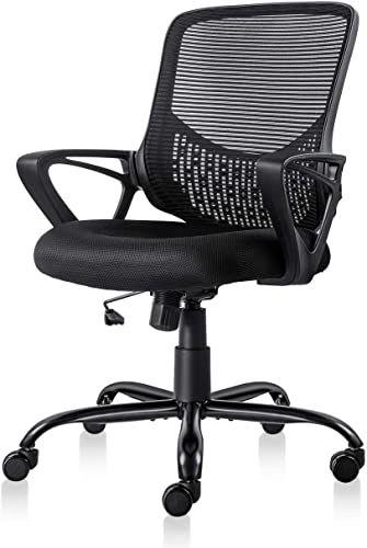 Buy Ergonomic Office Chair Lumbar Support Mesh Chair Computer Desk Task Chair Armrests Online In 2020 Ergonomic Office Chair Office Chair Lumbar Support Ergonomic Office