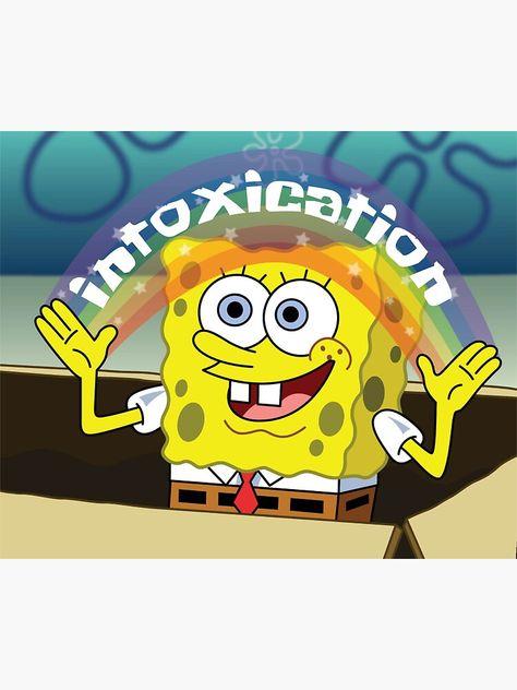 'Spongebob' Sticker by Gabrielle Lenting Beer Table, Beer Pong Tables, Ping Pong Table, Diy Table, Sorority Canvas, Sorority Paddles, Sorority Recruitment, Beer Bong, Sorority Big Little