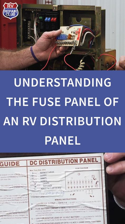 Understanding The Fuse Components Of An Rv Distribution Panel In 2020 Rv Camping Tips Travel Trailer Camping Rv Repair