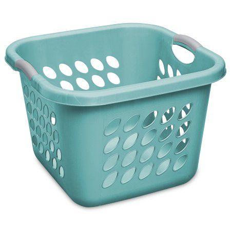 Sterilite 1 5 Bushel Ultra Teal Splash Square Laundry Basket