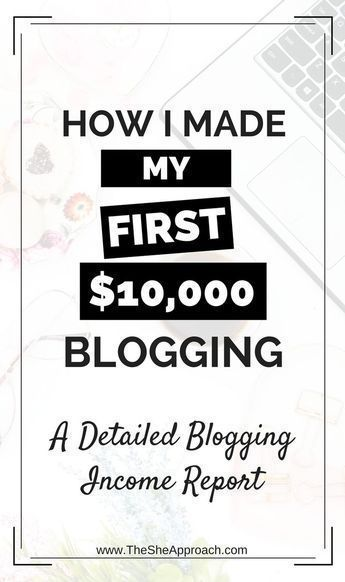 How I Made My First $10,000 Blogging