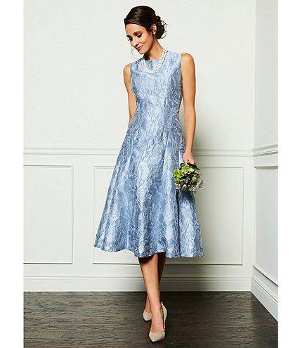 Blue Tea Length Mother Of The Bride Dress Ad