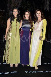 Manish malhotra - Kajol ,Tanisha attend Manish Malhotra's show at LFW