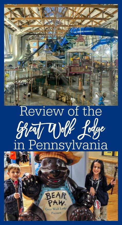 Review of the Great Wolf Lodge in Pennsylvania, located in the Pocono Mountains. This kid-friendly resort offers so much for families, including an indoor waterpark, bowling alleys, mini golf, and more.