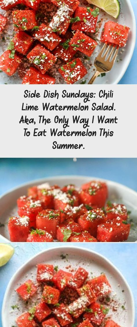 This chili lime watermelon is the perfect summer snack! It's savory and sweet with crumbled cotija cheese and lots of lime. Delish! #chililime #watermelon #summersnack #TravelSnack #RoadTripSnack #BestSnack #HalloweenSnack #SnackEasy