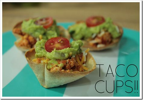 Simple Taco Cups are an excellent way to use @Rudi's Gluten-Free gluten-free tortillas!