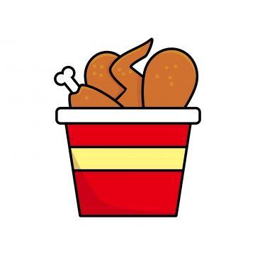 Balde De Ilustracao Vetorial De Frango Frito Isolado No Fundo Branco Comida Clip Art Clipart De Frango Frito Frango Frito Desenho Animado Imagem Png E Vetor Fried Chicken Chicken Vector Food