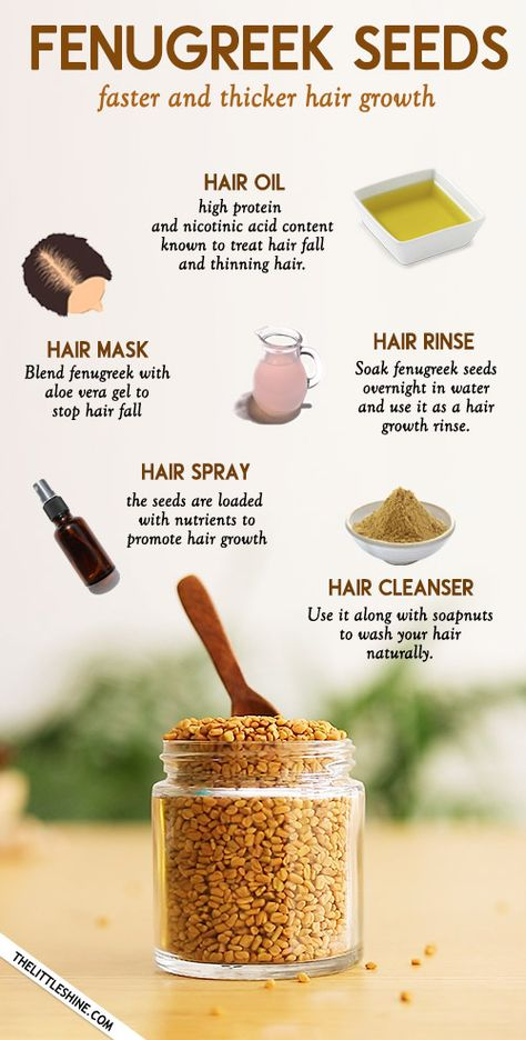 WAYS TO USE FENUGREEK SEEDS FOR FASTER AND THICKER HAIR GROWTH - The Little Shine