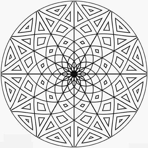 1001 Dessins De Mandala A Imprimer Et A Colorer Coloriage A