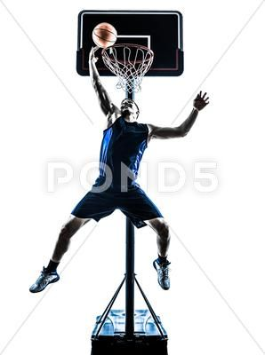 Caucasian Man Basketball Player Jumping Throwing Silhouette Stock Photos Ad Basketball Player Caucasian Man Diy Basketball Players Silhouette Basketba