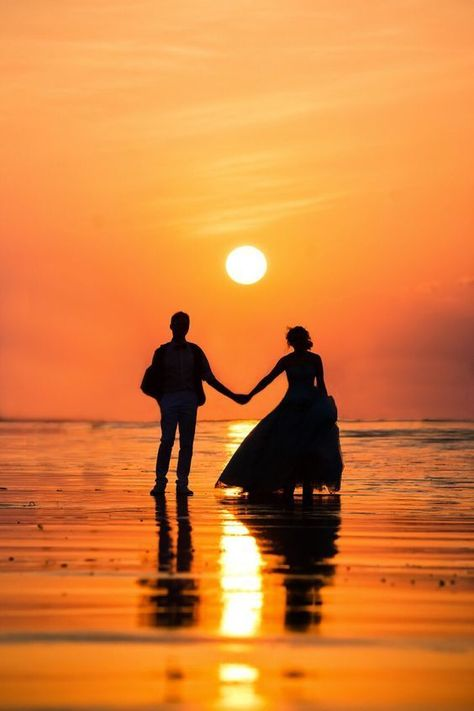 Couple Sunset DH Wallpapers -Sunset Couple Pictures - Romantic Couple Sunset Images – Love Couple Pictures For Whatsapp Download - Romantic Profile Pictures