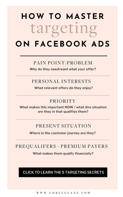 5 Facebook Ad Targeting Secrets To Increase Your Conversion Rate #facebookads