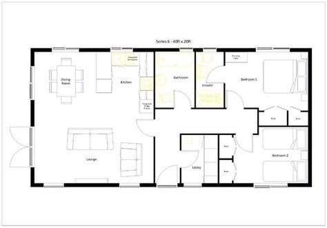 20 X 40 800 Square Feet Floor Plan Google Search Tiny House Floor Plans 20x40 House Plans House Plans